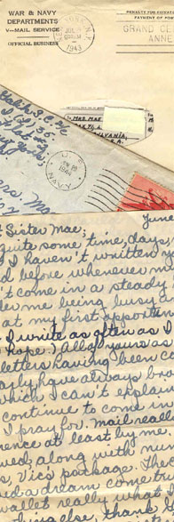 Letters - V Mail from Sister Mae